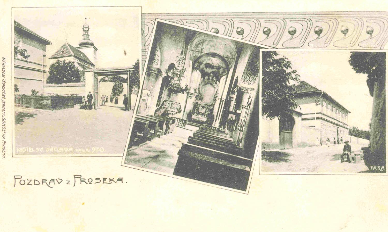 Starý Prosek na staré pohlednici