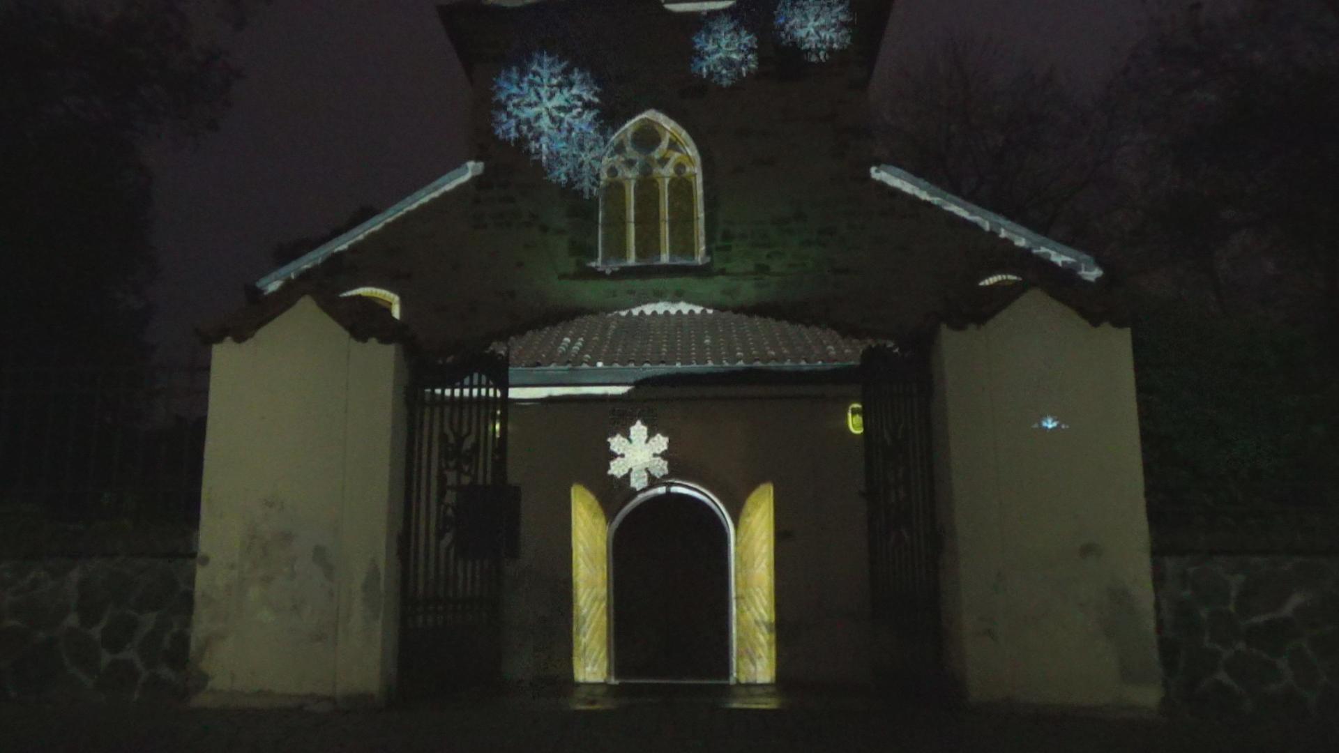 Videomapping na kostele sv. Václava na Proseku