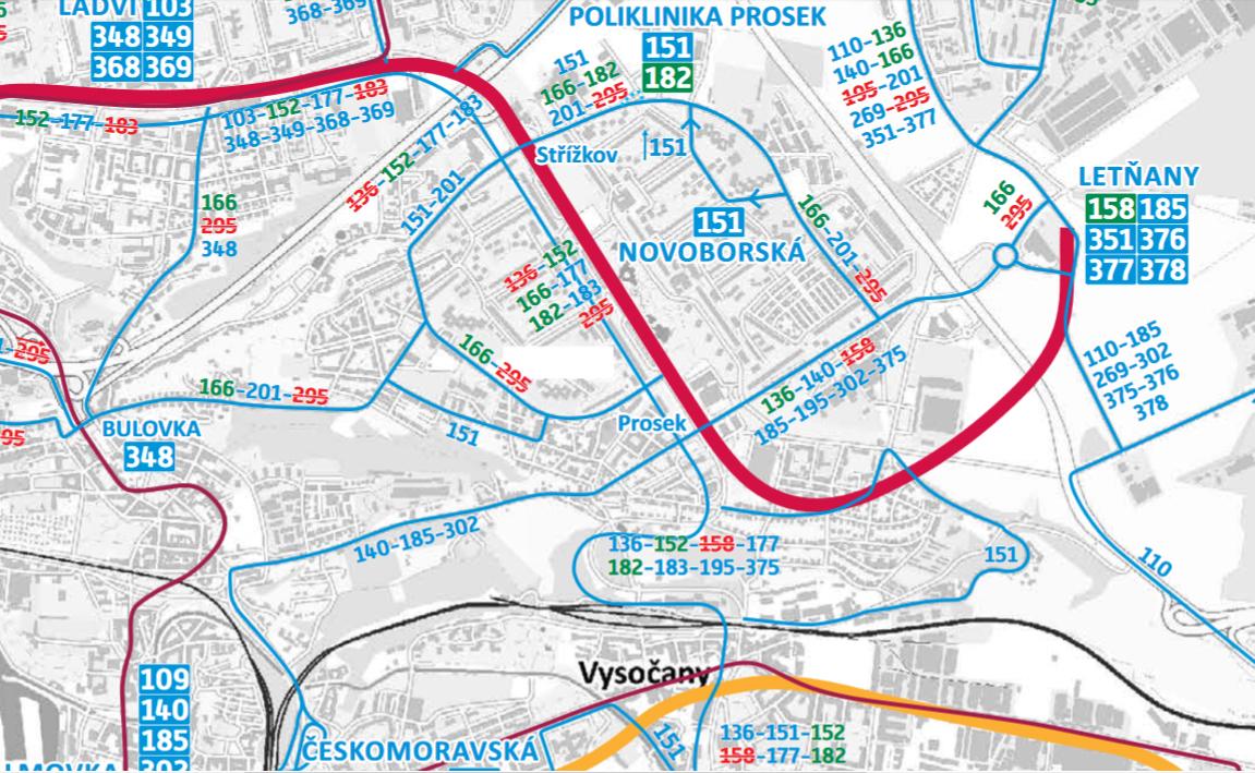 Změny autobusových linek v Praze 9
